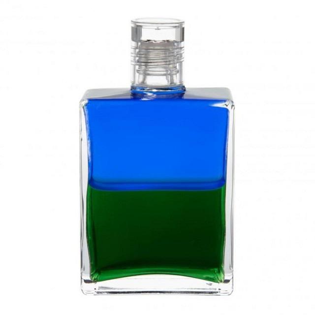 B3 Blau/Grün Herzflasche (Atlanterflasche)