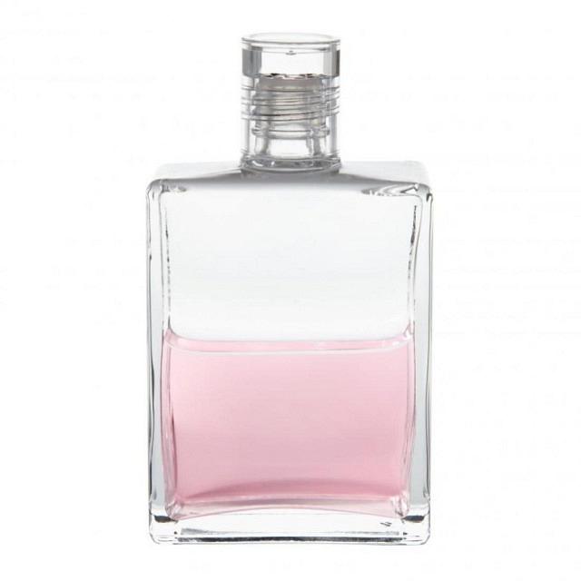 B11 Klar/Pink Essenerflasche I (Blumenkranz)