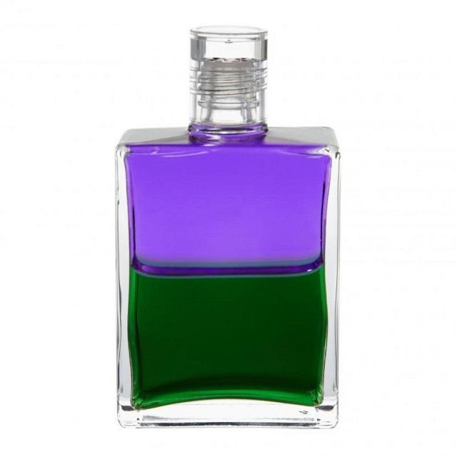 B38 Violett/Grün Troubadur Flasche II (Scharfsinn)