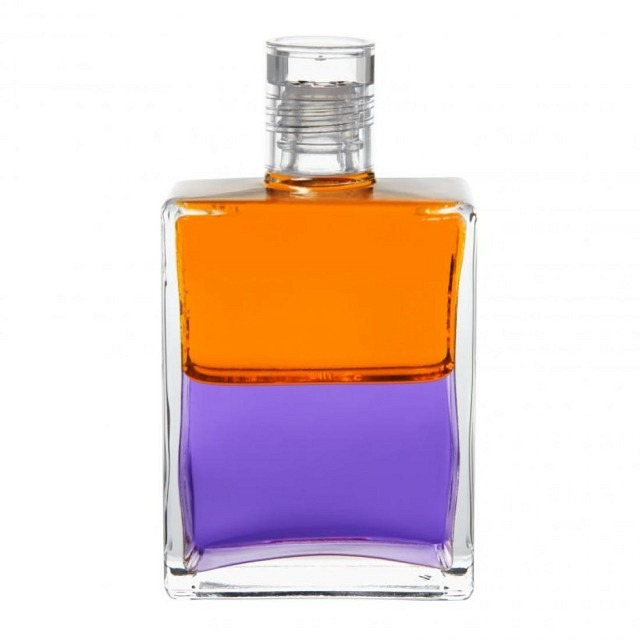 B79 Orange/Violett Vogel Strauss-Flasche